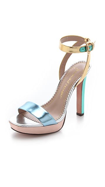 Jean-Michel Cazabat Holiday Platform Sandals