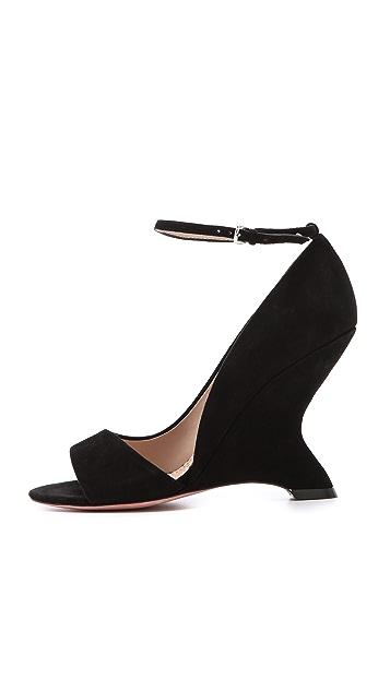 Jean-Michel Cazabat Ilaria Sculpted Suede Sandals