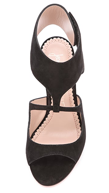 Jean-Michel Cazabat Ilaria Sculpted Suede Sandals