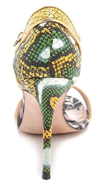 Jean-Michel Cazabat Oka Mixed Media Sandals