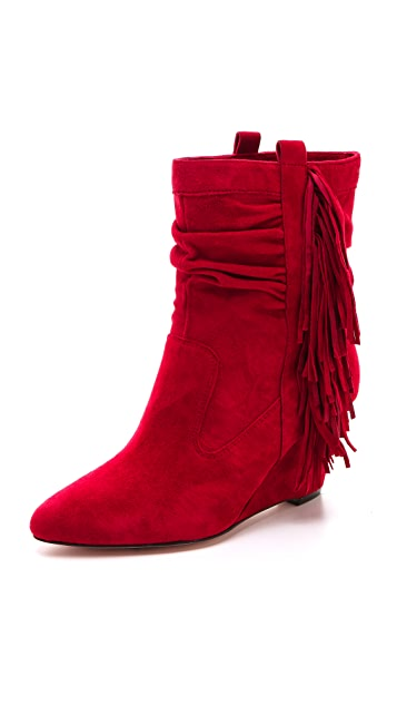 Jean-Michel Cazabat Vanka Wedge Fringe Booties