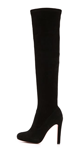 Jean-Michel Cazabat Panpan Suede Over the Knee Boots
