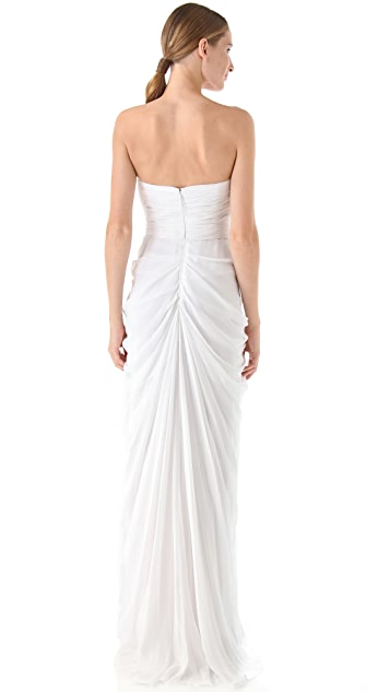J. Mendel Strapless Draped Gown
