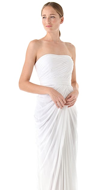 J. Mendel Strapless Draped Gown