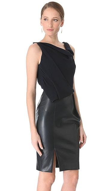 J. Mendel Sleeveless Asymmetrical Dress