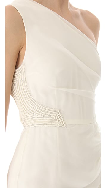 J. Mendel Pauline One Shoulder Dress