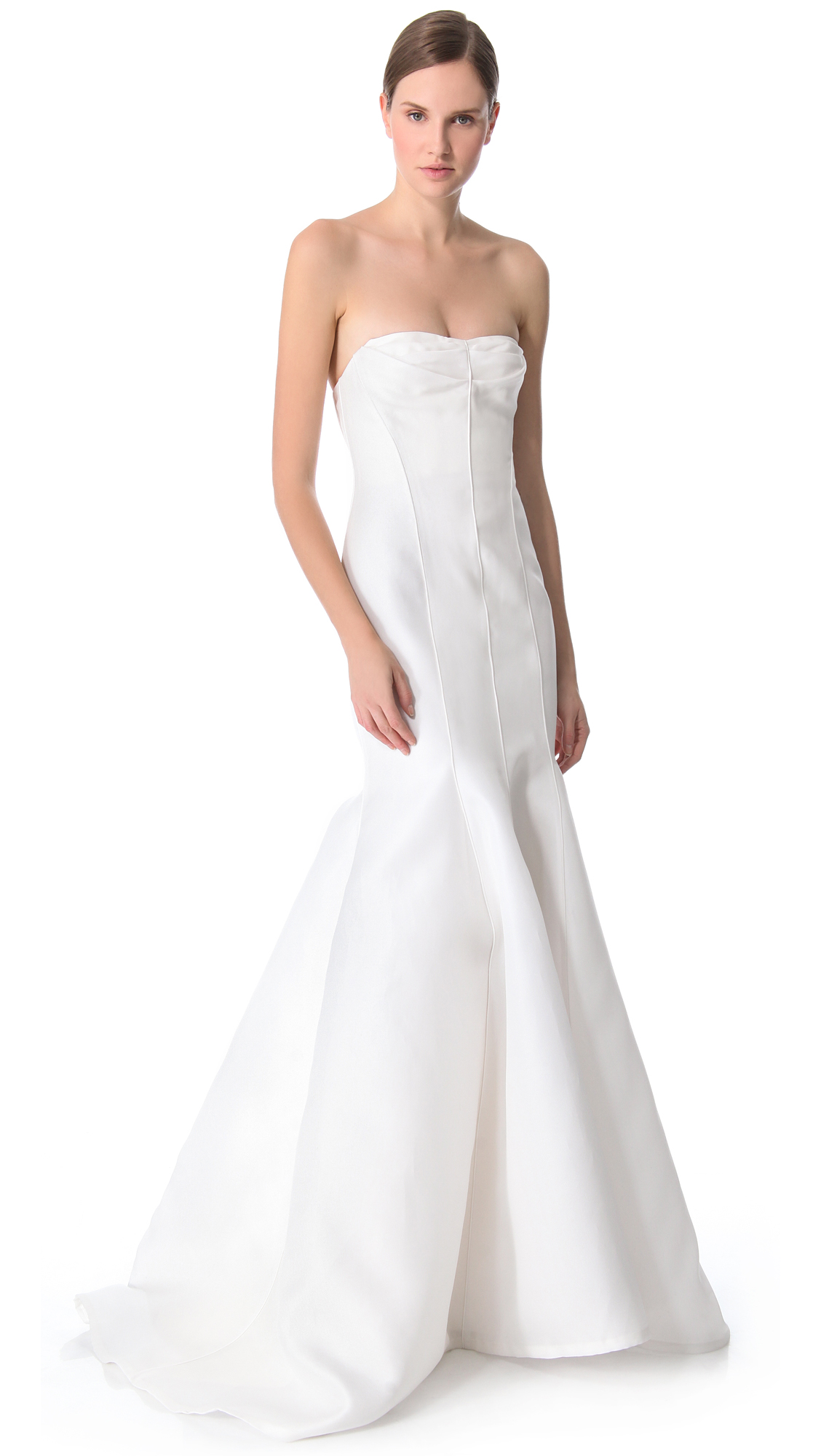 J. Mendel Blanche Strapless Mermaid Gown | SHOPBOP