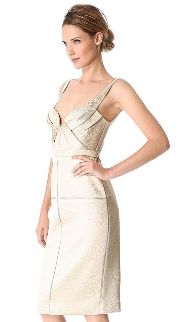 J. Mendel Draped Bustier Dress