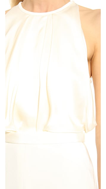 J. Mendel Crew Neck Blouson Dress