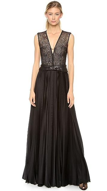 J. Mendel Silk Bustier Gown