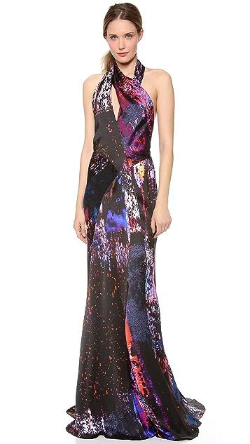 J. Mendel Print Turtleneck Dress