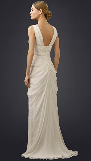 J. Mendel Josephine Gown with Draped Bodice