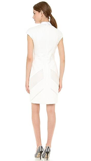 J. Mendel Collared Cap Sleeve Dress