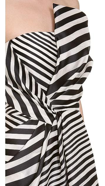 J. Mendel Strapless Asymmetrical Gown
