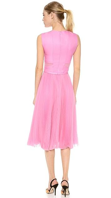 J. Mendel Sleeveless Dress with Pleated Skirt