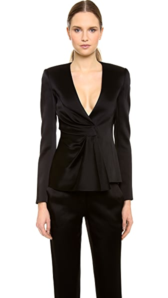 J. Mendel Draped Satin Jacket