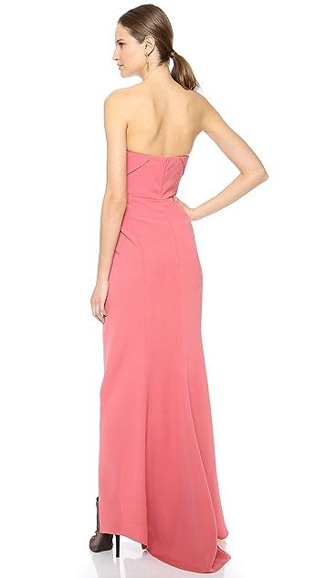 J. Mendel Strapless Bustier Gown
