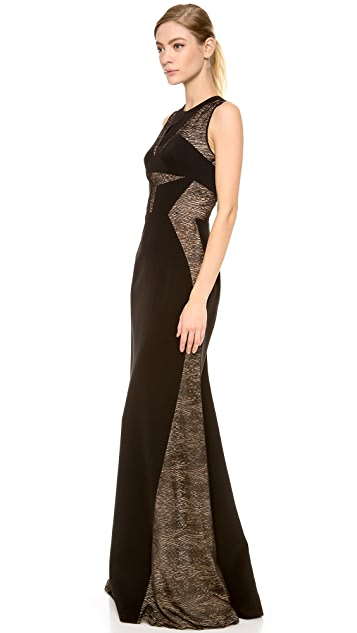 J. Mendel Gown with Lace Inserts