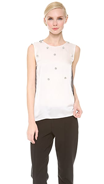 J. Mendel Sleeveless Crewneck Top