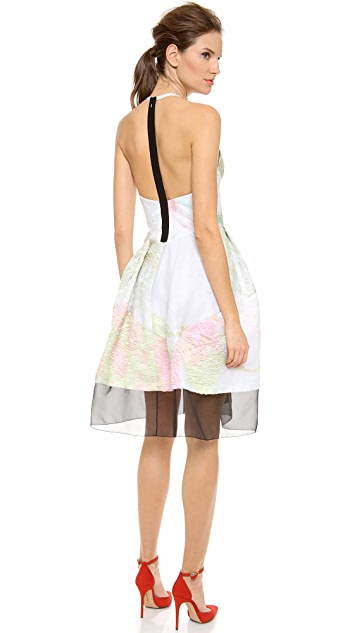 J. Mendel Halter Neck Dress