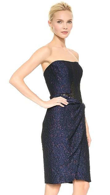 J. Mendel Strapless Cocktail Dress