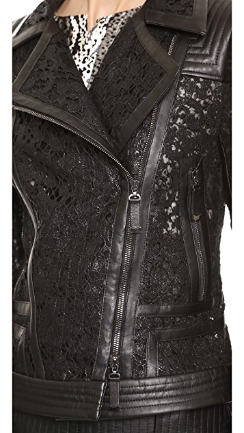 J. Mendel Lace Motorcycle Jacket