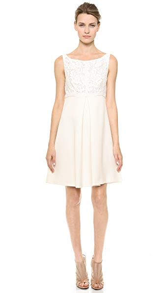 J. Mendel Sleeveless Dress with Lace Bodice