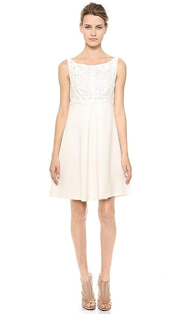 J. Mendel Sleeveless Dress with Lace Bodice