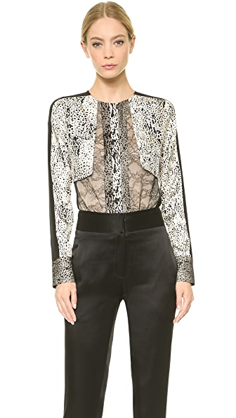 J. Mendel Long Sleeve Top