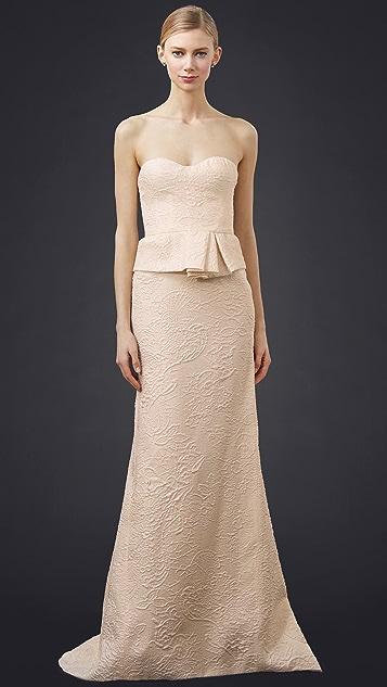 J. Mendel Reinette Strapless Bustier Gown