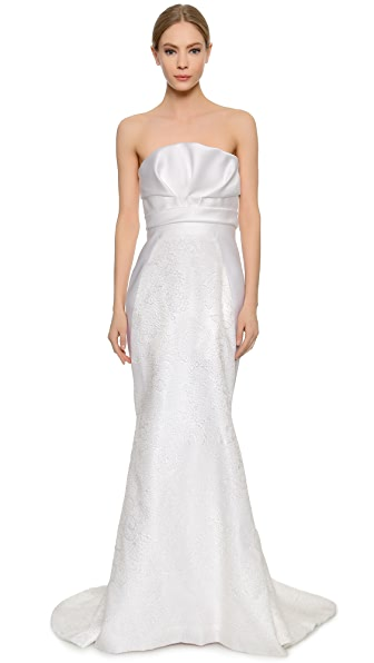 J. Mendel Mermaid Gown with Draped Bustier