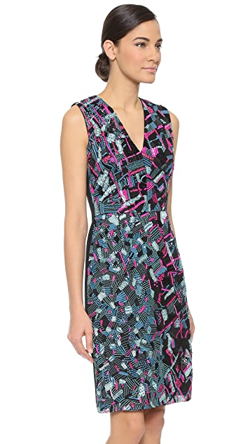 J. Mendel Sequined V Neck Dress