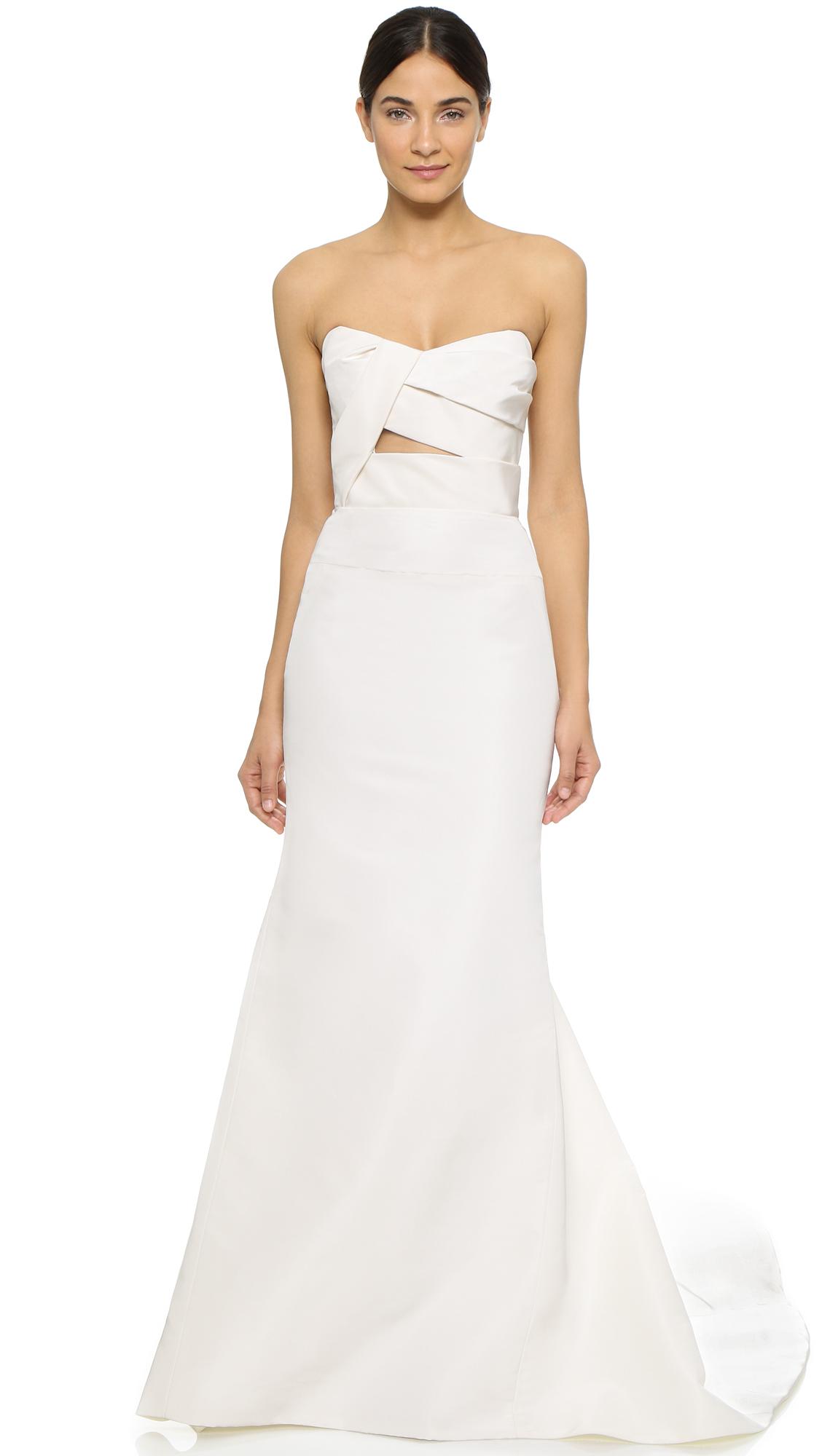 j mendel wedding dress J Mendel Adelaide Strapless Bustier Gown SHOPBOP Extra 25 Off Sale Styles Use Code SCORE17