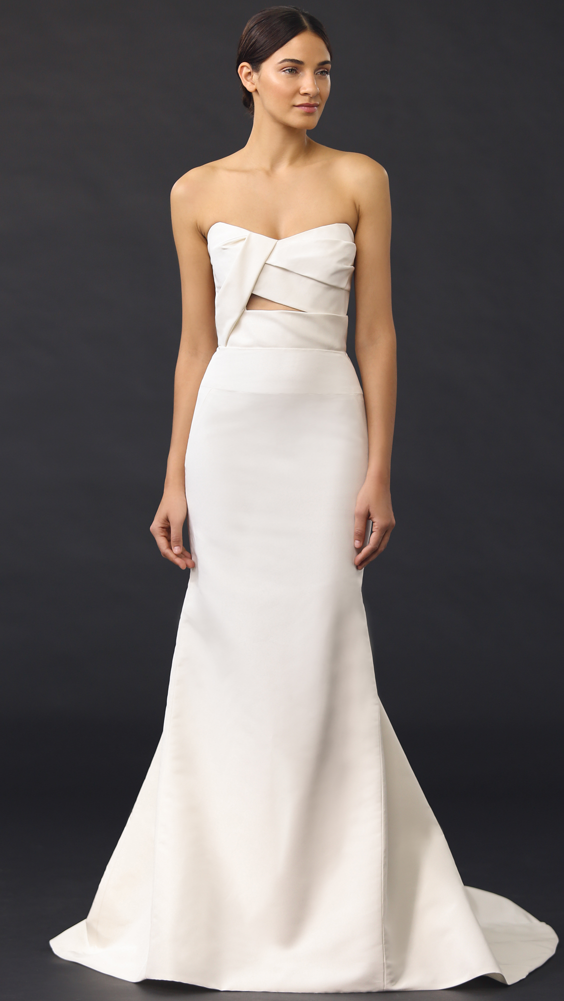 J. Mendel Adelaide Strapless Bustier Gown | SHOPBOP