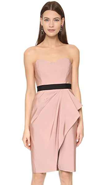 J. Mendel Bustier Dress with Draped Wrap Skirt