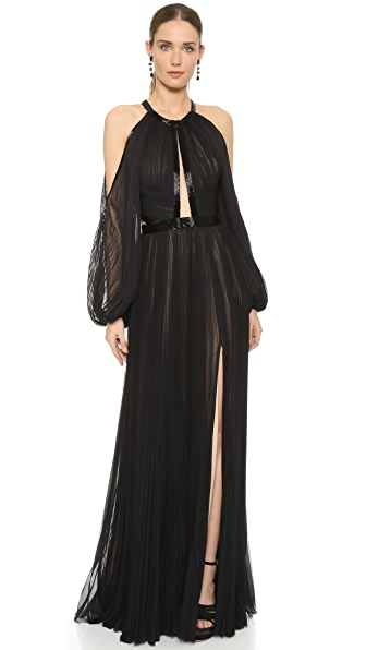 J. Mendel Pleated Halter Gown