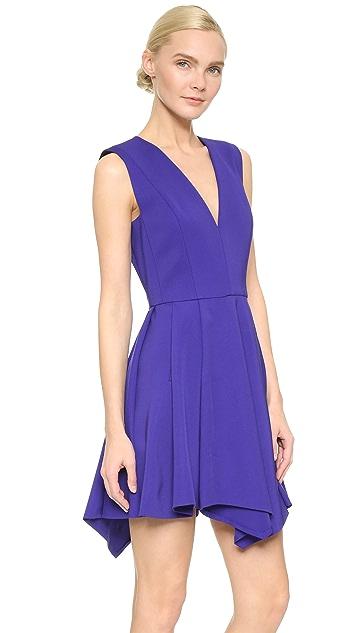 J. Mendel Pleated V Neck Dress