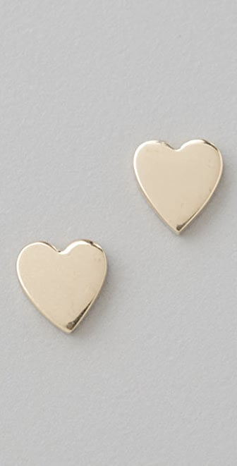Jennifer Meyer Jewelry Heart Stud Earrings