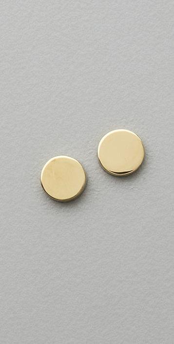 Jennifer Meyer Jewelry Circle Stud Earrings
