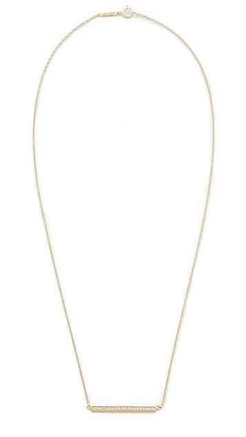 Jennifer Meyer Jewelry 18k Gold Diamond Stick Necklace