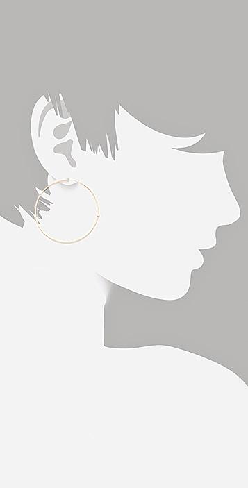 Jennifer Meyer Jewelry 18K Gold and Stone Hoop Earrings