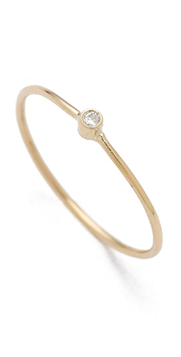 Jennifer Meyer Jewelry 18k Gold Thin Diamond Ring
