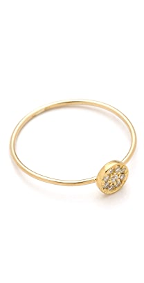 Jennifer Meyer Jewelry 18k Gold Circle Diamond Ring