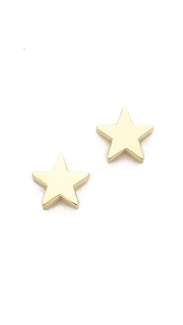 Jennifer Meyer Jewelry 18k Gold Mini Star Stud Earrings