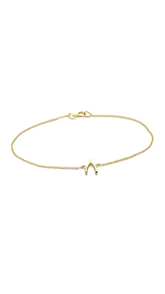 Jennifer Meyer Jewelry 18k Gold Wishbone Bracelet