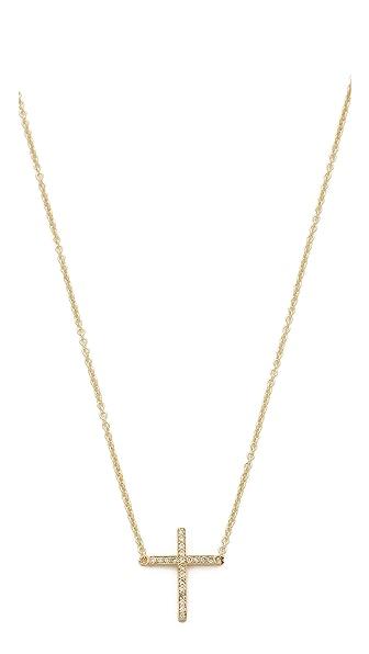 Jennifer Meyer Jewelry Thin Cross Necklace