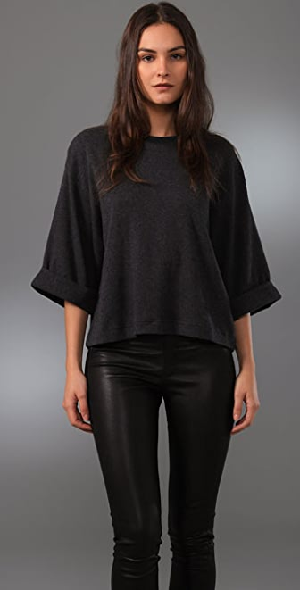 JNBY Elegant Rock Oversized Top with Roll Sleeves