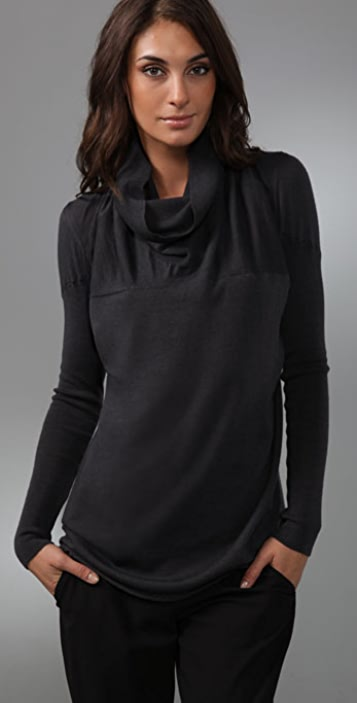JNBY Elegant Rock Cowl Neck Sweater