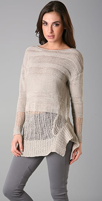 JNBY Crew Neck Tunic Sweater