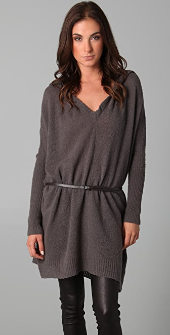 JNBY Oversized Hooded Tunic Sweater